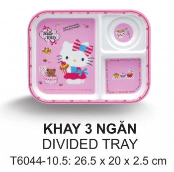 T6044-10.5 Khay 3 Ngăn 26,5 Cm (Kitty)  - SPW